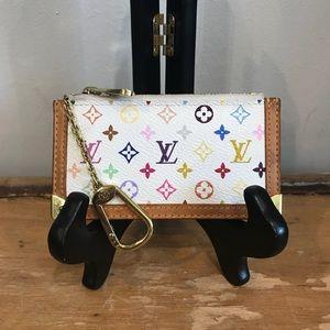 Louis Vuitton White Multi Color Key Chain